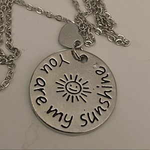 Jewelry - 3/25 Necklace You Are My Sunshine Charm Pendant